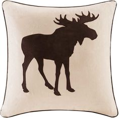 Comanche Embroidered Suede Throw Pillow
