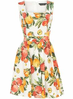 Ivory oranges and lemons dress - Day Dresses - View All - Dresses - Dorothy Perkins ($50-100) - Svpply