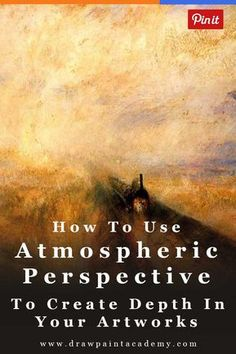 Learn All About How To Use Atmospheric Perspective To Create Depth In Your Paintings. Atmospheric perspective (or aerial perspective) refers to how the atmosphere affects how we see objects as they recede into the distance. Acrylic Painting Techniques, Painting Lessons, Painting Tips, Art Techniques, Art Lessons, Painting & Drawing, Painting Tutorials, Drawing Tips, Art Tutorials