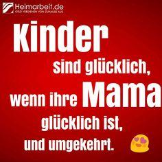 Kinder sind glücklich, wenn ihre Mama glücklich ist und umgekehrt. #Mutterliebe