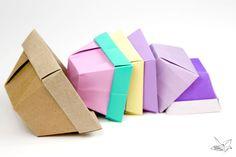 Tapered Origami Box / Origami Plant Pot Tutorial #origami #box #origamibox #origamipot #tutorial #diy #paperfolding #paperkawaii