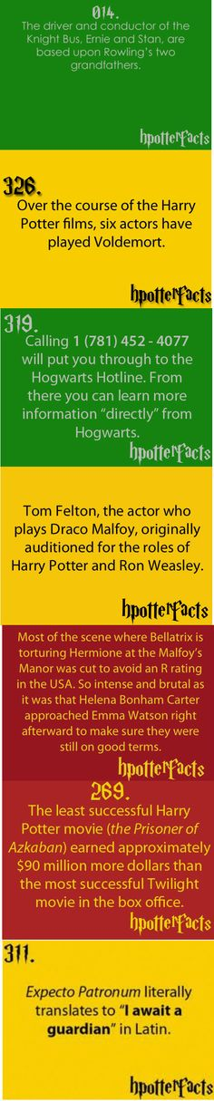 Knew some of these already but it's always good to keep Harry Potter facts at hand