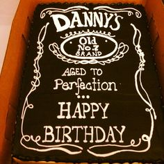 Jack Daniel's Theme Birthday Cake Men's 40th Birthday - Jack daniels 40th birthday ideas