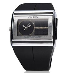 91f962738db OHSEN Mens Digital Watch LCD Light Color Black -- Click on the image for  additional