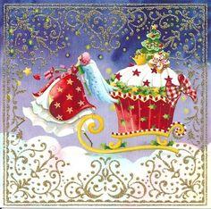 Quadratische Postkarte *** Nina Chen *** Engel mit Schlitten: Amazon.de: Bürobedarf & Schreibwaren