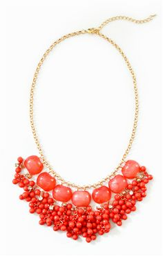 Cascading Bubble Necklace - Red Statement Necklace by Shamelessly Sparkly $15.90