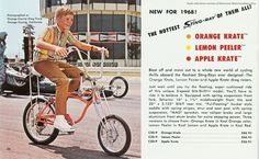 Also from the 1968 Schwinn catalog. Only ever owned the Lemon Peeler and Apple Krate, but coveted an Orange Krate. Repros just aren't the same.