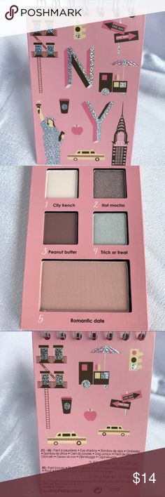 🆕Sephora🚖New York🚖Palette🆕 New Sephora New York Eyeshadow & Blush Notebook features four eyeshadows in shades City Trench, Hot Mocha, Peanut Butter, and Trick or Treat. Also including Romantic Date blush.  Check out my other Sephora listings to bundle and save! Sephora Makeup Eyeshadow