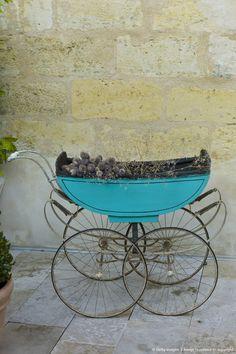 Antique Pram in St Emilion, Bordeaux, France St Emilion, Bordeaux France, Prams, French Antiques, Architecture, Image, Beautiful, Arquitetura, Architecture Design