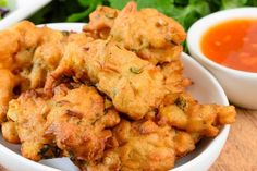 Serve these spicy corn fritters with a sweet chilli dipping sauce for an enticing entree.