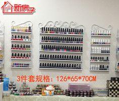 3 PCS/set Cosmetic display rack hanging nail polish shelf