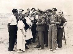 El Ministro de la Guerra en el frente de Somosierra. Autor: Albero y Segovia
