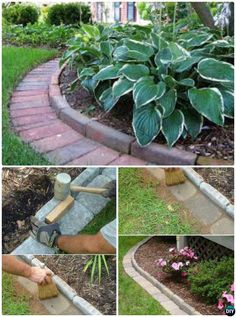 DIY Brick Garden Creative Garden Bed Edging Ideas Projects Instructions In order to have a great Modern Garden Decoration, … Brick Garden Edging, Garden Borders, Garden Paths, Garden Edging Ideas Cheap, Brick Landscape Edging, Flower Bed Borders, Yard Edging, Landscape Bricks, Landscape Borders