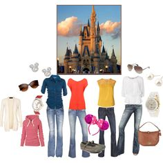 """What to wear: """"Stylish and Comfortable Disney World outfits"""" by valaries on Polyvore"""