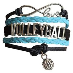 Volleyball Bracelet- Girls Volleyball Jewelry - Perfect Volleyball Gifts for Players Infinity Collection http://www.amazon.com/dp/B01DH5B9YK/ref=cm_sw_r_pi_dp_grYdxb1GM7TPZ