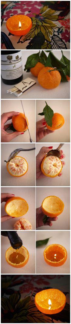 Velas con naranjas