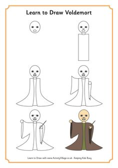 Learn to draw Voldemort
