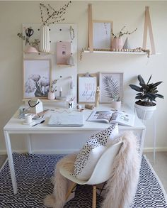 Gorgeous Scandi style workspace/ home office / craft room / study