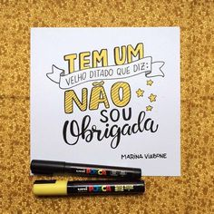 Tem um velho ditado Lettering Tutorial, Diy Letters, Posca, Brush Lettering, Brush Pen, Words Quotes, Typography, Positivity, Thoughts