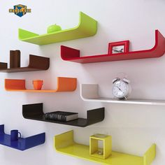 Wood Shelves Curved wall shelve or colour shelf shelving