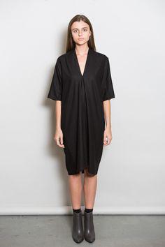 Miranda Bennett Black Silk Noil Muse Dress – Parc