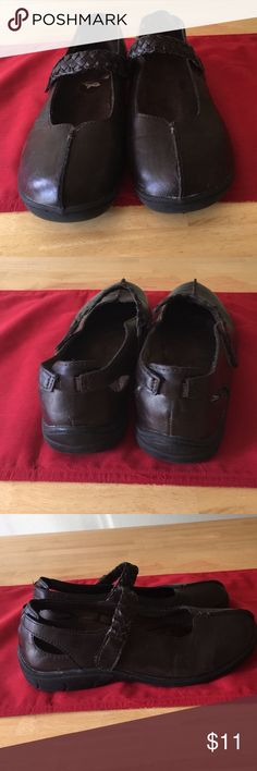 Shoes Brown leather comfort shoe. Mary Jane style. Size is 9 wide. Sporto Shoes Flats & Loafers
