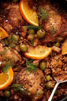Shrimp Recipes, Chicken Recipes, Turkey Recipes, Most Popular Recipes, Favorite Recipes, Italian Pasta Dishes, Olive Recipes, Skillet Chicken, Special Recipes