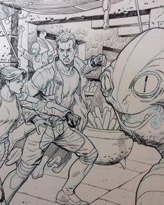 Star lord cover detail. #marvel #marvelcomics #starlord #cover #comics#comicart #detail by mikehawthorneart