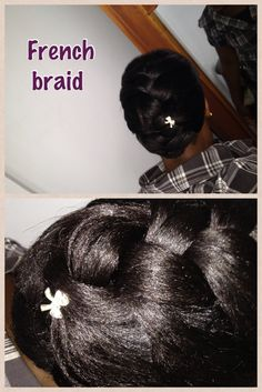 french braid #relaxedhair #protectivestyle