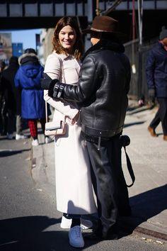 Pin for Later: Retour Sur les Meilleurs Looks Street Style de la Fashion Week de New York Jour 4 Hanneli Mustaparta