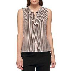 Tommy Hilfiger® Stripe Tie Neck Blouse