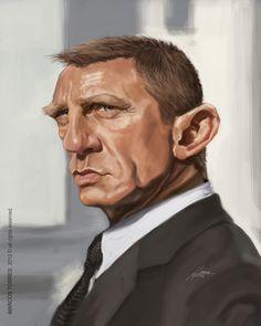Daniel Craig by jupa1128 on DeviantArt.     For more great pins go to @KaseyBelleFox
