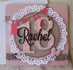 18 years old card Old Birthday Cards, Handmade Birthday Cards, Birthday Numbers, Pocket Letters, Happy B Day, Milestone Birthdays, Card Sketches, Stampin Up, Happy Birthday