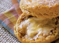 Pumpkin Biscuits with Orange-Honey Butter Recipe, Cooking Light