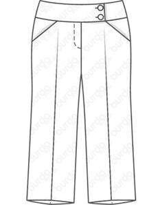 Culotte 08/2019 #123A Style Magazin, Trousers, Men's Pants, Plus Size, Boyshorts, Striped Shorts, Trousers Fashion, Straight Trousers, Loose Pants