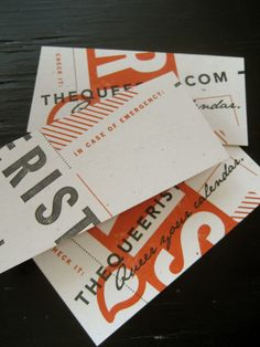 The Queerist.com Contact Cards by Will Miller, via Behance