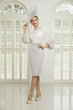 991503 Veni Infantino Mother of the Bride Groom Dress with chiffon sleeves and pearl details. From Chameleon Bride in Bournemouth Dorset serving brides in Hampshire Wiltshire Portsmouth Southampton Salisbury Dorchester Westbourne Mother Of Bride Outfits, Mother Of The Bride, Bride Groom Dress, Bride Dresses, Mob Dresses, Short Fitted Dress, Taupe Dress, Pearl Dress, Full Skirt Dress