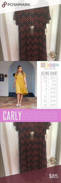 #LuLaRoe #Rare #Black #Grey #Coral #Carly #Dress L #LuLaRoe #Rare #Black #Grey #Coral #Carly #Dress L LuLaRoe Dresses High Low