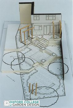 Angles and circles work to enlarge a long, narrow back garden.