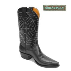 Spider Web Cowboy Boots, $290 - All-Leather Cowboy Boots - Handmade Cowboy Boots
