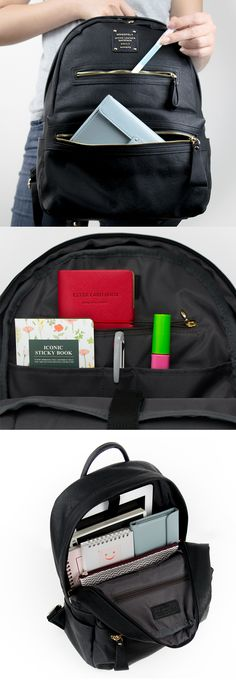 "Good news for anyone who is looking for a classy and functional backpack! This bag has an spacious size to hold your items including a 11"" laptop and is made with a durable material, making it ideal to carry it with you anywhere for any purposes."