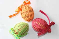 Handmade Crochet Easter Egg Cover Set of 3 Easter by CrochCaShop