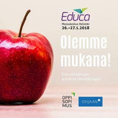 Olemme tänäkin vuonna mukana Suomen johtavassa kasvatus- ja koulutusalan tapahtumassa Educassa tammikuun lopulla.  Yhteistyössä ständillämme Ohjaan.fi. Tervetuloa osastollemme 6g89! #educa2018 #oppisopimusfi #ohjaanfi