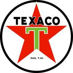 Texaco Gas Sign, 18 x 18 Large Aluminum Metal, USA Made Vintage Style Retro Garage Art RG5036-18 by HomeDecorGarageArt on Etsy