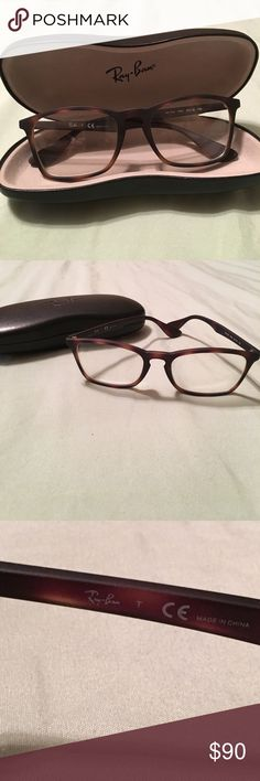479b5e7a0b856 Ray-Ban eyeglass frames in Ray-Ban case. EUC. Brown Rx.