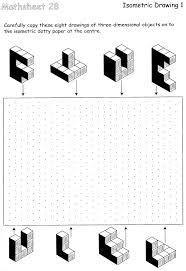 isometric drawing exercises for kids cerca con google disegni scuola pinterest isometric. Black Bedroom Furniture Sets. Home Design Ideas