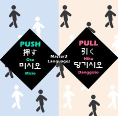Push & Pull - Korean and Japanese Words