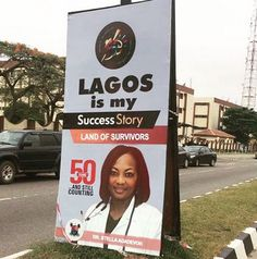 Angry Lagosian Photoshops Dr Adadevoh Into Lagos @ 50 Banner Says She Is The Real Hero