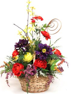 Silk Flower Arrangement Centerpiece in a by sunshineinteriors