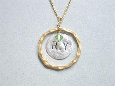 Monogram necklace Infinity initial necklace by saragalstudio